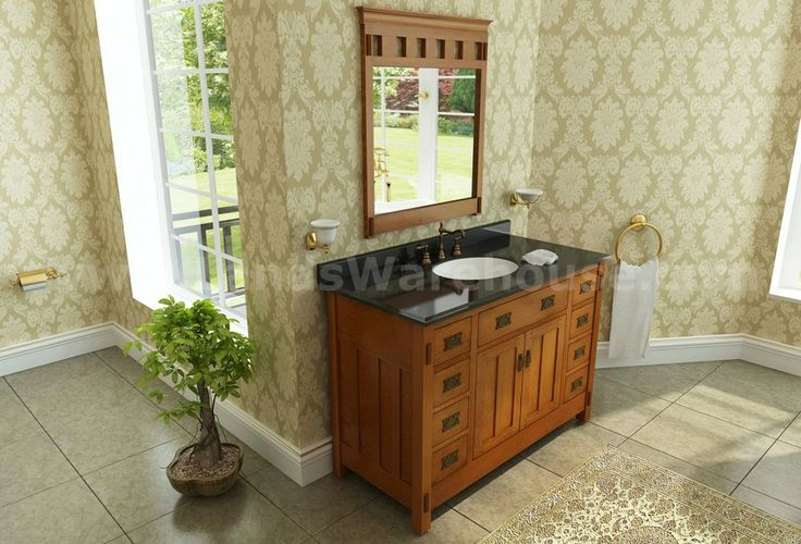 craftsman bathroom sinks | Sage Hill Designs American Craftsman Vanity AC4821D Single Sink ...