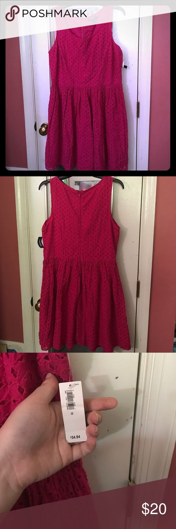 NWT hot pink old navy cocktail dress Lightweight and cute dress. Length comes to about the knee. Perfect for a night out or a casual date. Old Navy Dresses