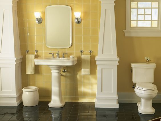 34 Best Yellow Bathrooms Images On Pinterest Bathrooms