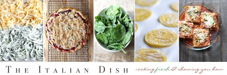 The Italian Dish - One of the best blogs I've seen for all things Italian and food. Making the Zucchini Lasagna recipe today!