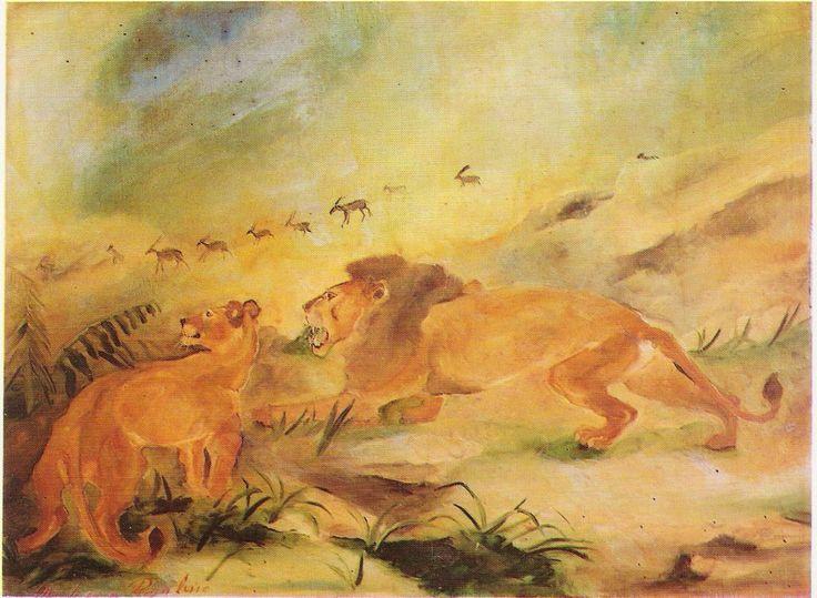 """""""Leone e leonessa"""" di Antonio Ligabue"""