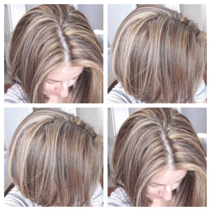Tricolordimensional Hair Highlights Blonde And Light Brown Highlights Bro