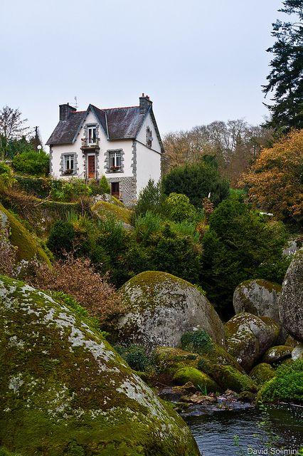 Paysages de Bretagne, Huelgoat, France.