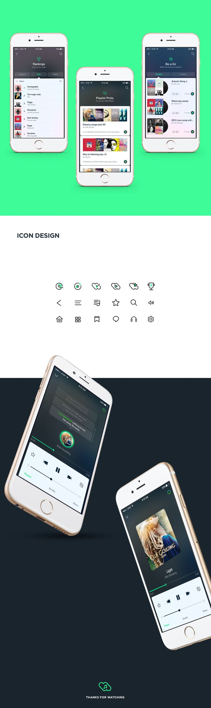 LINE MUSIC redesign project by jay lee.