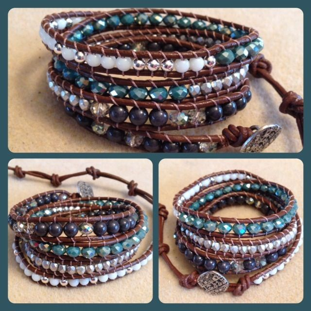 leather wrap bracelets that I made