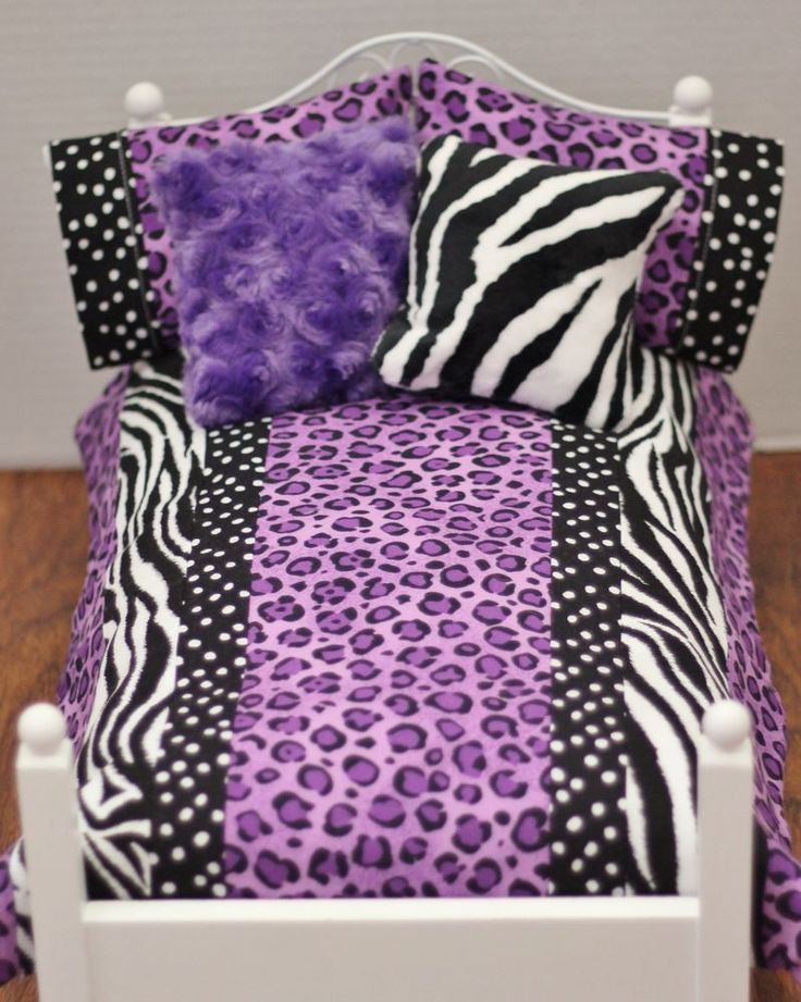 """5 Piece Doll Bedding Set Handmade to Fit any 18"""" doll bed** American Made"""