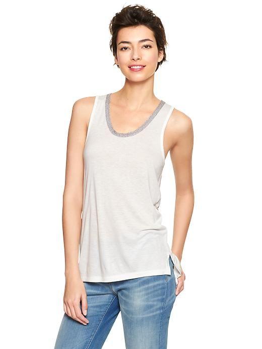 Camiseta algodón con ribete - GAP -17E