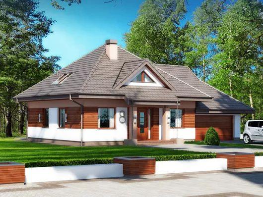 Projekt domu Sindbad N 2G (TPB-477) - 131.96m²