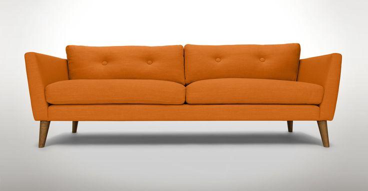 305 best furniture favorites images on pinterest arm for Orange sofa