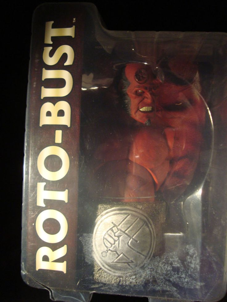 HELLBOY 2-ARTICULATED ROTO-CAST BUST-MEZCO-2008-SUPERIOR DETAIL-A HELLBOY MUST~! #Mezco