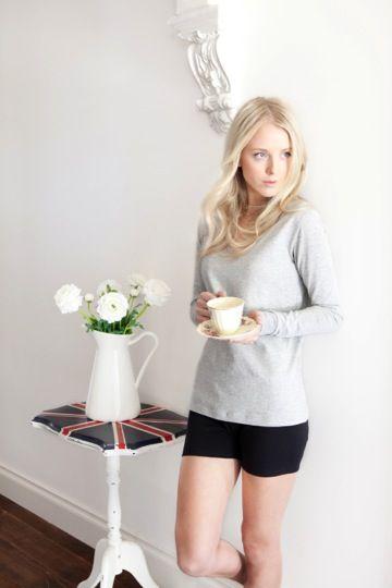 Long Sleeve Bed Tee and Shorties http://pelicansleepwear.com.au/products/long-sleeve-bed-tee-1