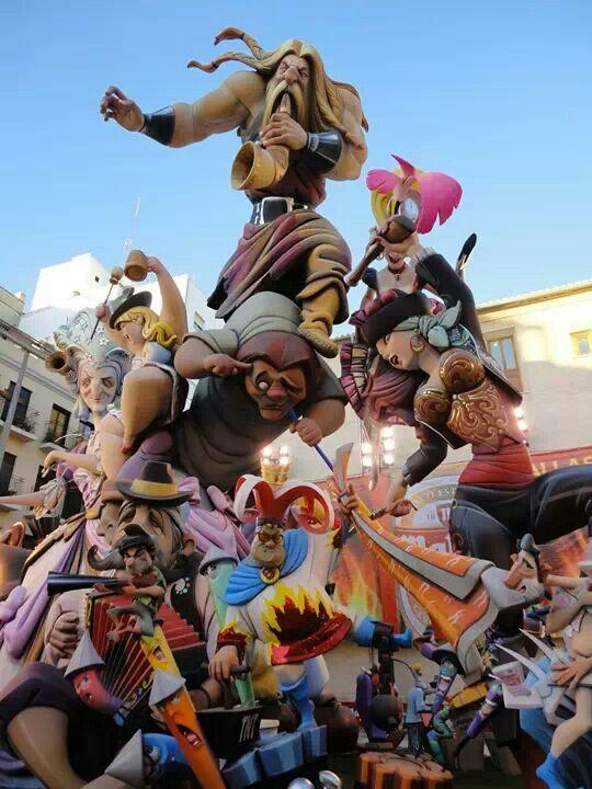 The first prize of Falla 2014. Valencia, Spain..