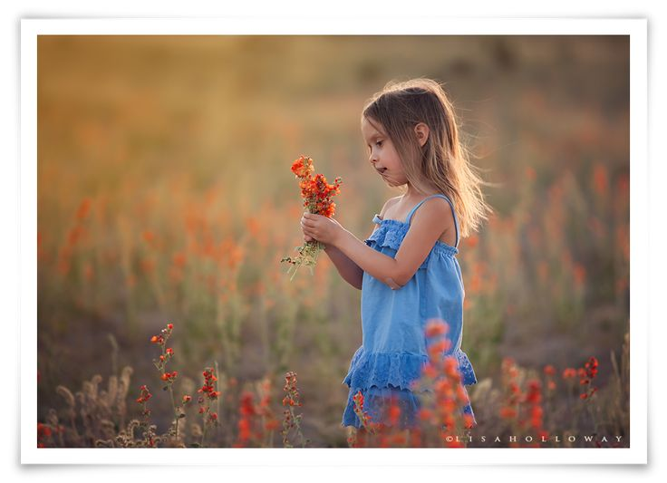 Las vegas child photographer kingman child photography picking flowers