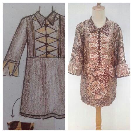 Batik blouse, cutomer order