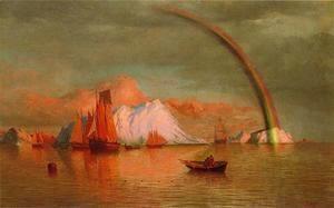 Arctic Sunset With Rainbow  William Bradford
