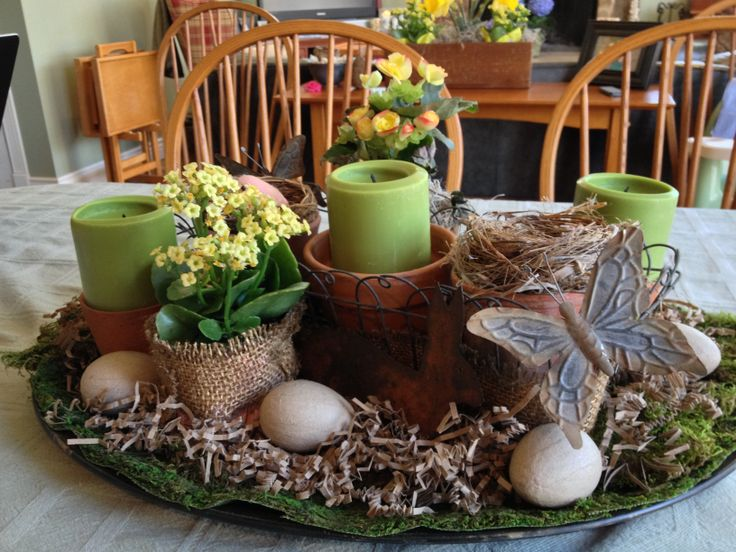 Spring Table Decor On Table