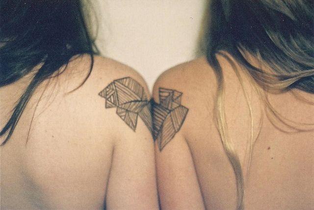 geometric friend tattoos
