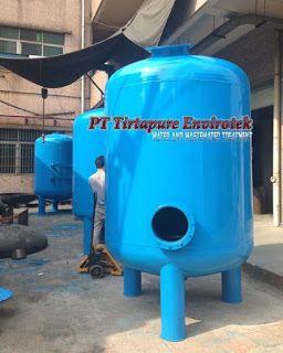 Carbon Filter Tank 20 m3/h adalah tangki filter bertekanan yang berisi media filter karbon aktif untuk kapasitas laju air 20000 liter per jam - http://www.tirtapure.com/2016/11/carbon-filter-tank-20-m3h.html