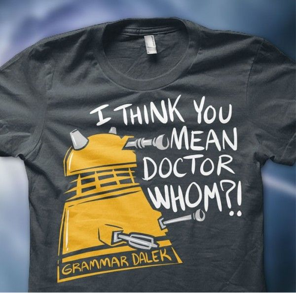 Combining my two loves...proper grammar and Daleks!