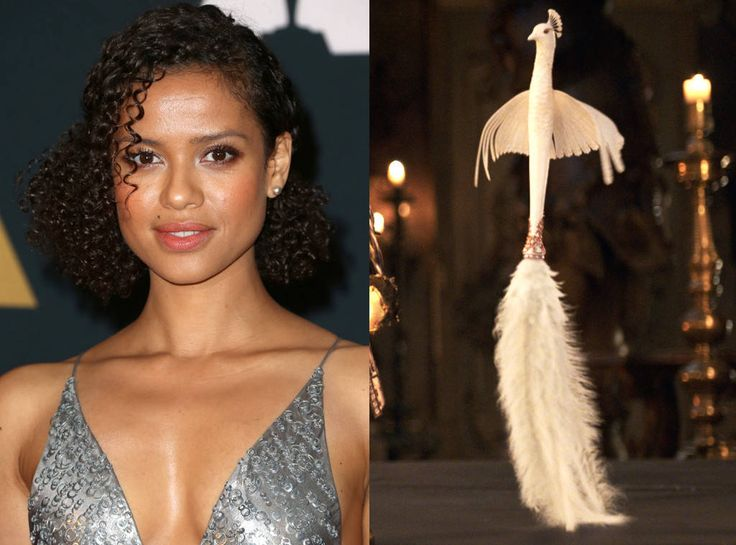 Gugu Mbatha Raw As Plumette From What The Beauty And Beast Characters Look Like In Real Life Feather DusterMbatha