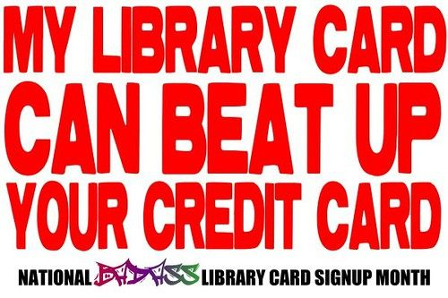 Youth Services Shout-Out -YSS!: Library Card Sign-Up Month