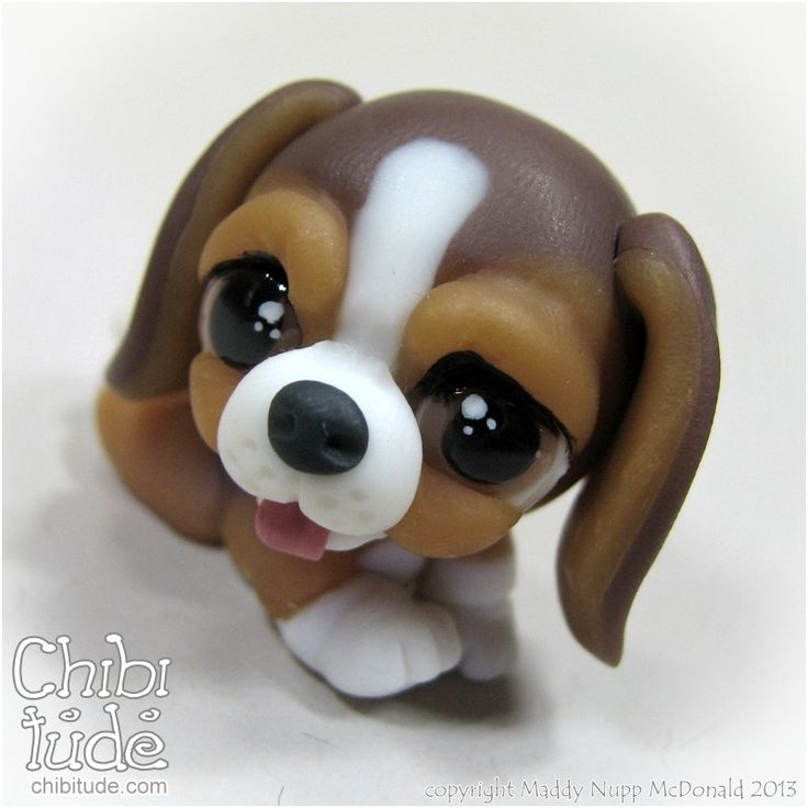 Chibitude Chibi Baby Beagle - Variety Polymer Clay OOAK Handmade 20140116007