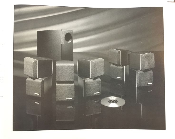 Vintage Bose Acoustimass 10 Home Theater Speaker System Black New in box