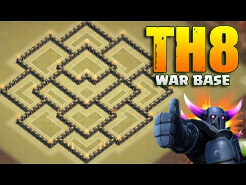 Clash Of Clans - New update - Town hall 8 Th8 War Base Anti Dragon Hog!