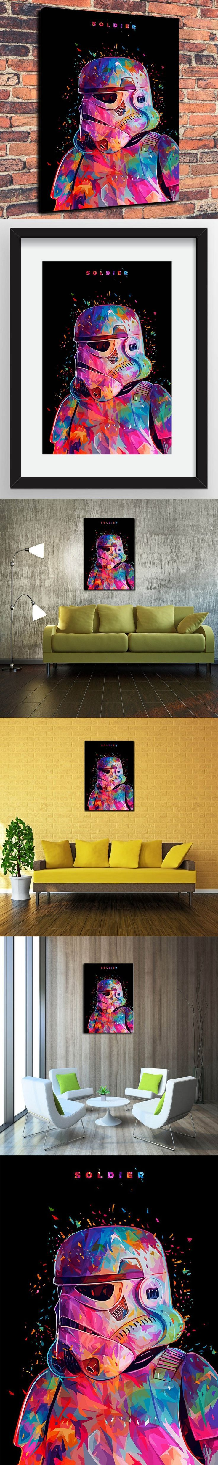 Canvas Prints Wall Art Decorative Painting Western Home Decor Which Star  Wars Slodier( No Framed )