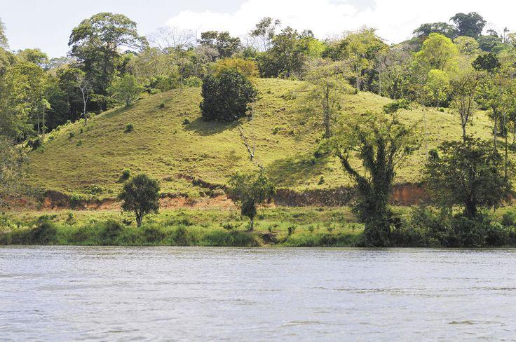 Costa Rica calcula que la carretera deposita unas 75 mil toneladas de sedimento por año en el río San Juan, mientras que expertos consultados por Nicaragua aseguran que la cantidad llega hasta las 250 mil toneladas. LA PRENSA/ ARCHIVO