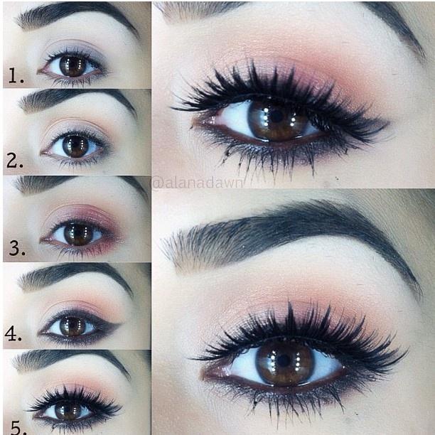 wow! stunning yet subtle pink eye makeup pictorial