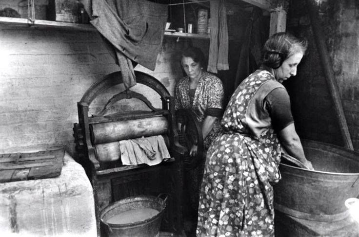 Women Washing Clothes In The 1950 S Reminiscing Through