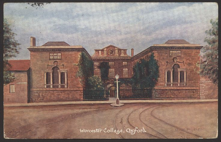 Oxford. Worcester College by Leslie Paviere. 1904 Postcard by F. Cape, Oxford   eBay