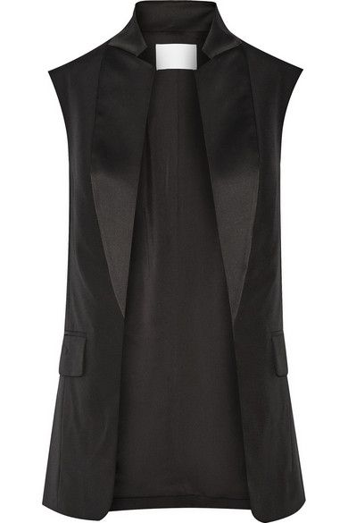 Alexander Wang | Wool and satin tuxedo vest| @andwhatelse