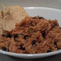 Feliz Cinco de Mayo! Slow-cooker Mexican chicken and rice.