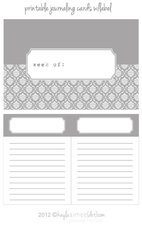 freebie #projectlife label cards