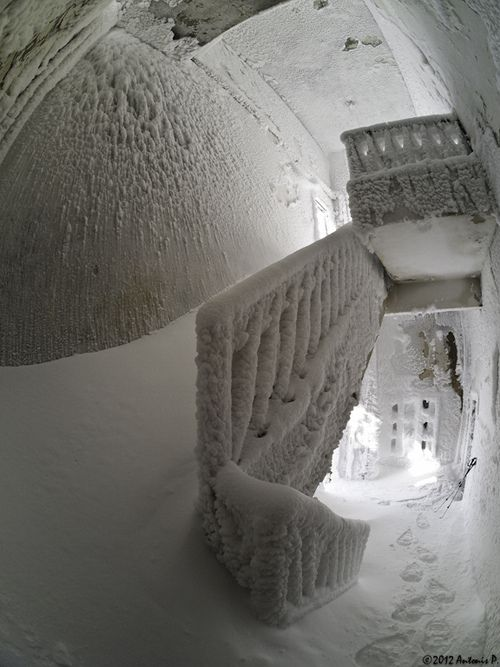 abandonedporn: Cold Stairs (by Voreas)