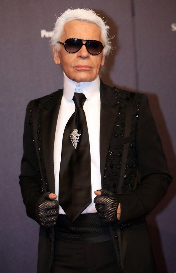 Karl Lagerfeld Faschion Designer bei Halloween-Kostüme Accessoires Ideen