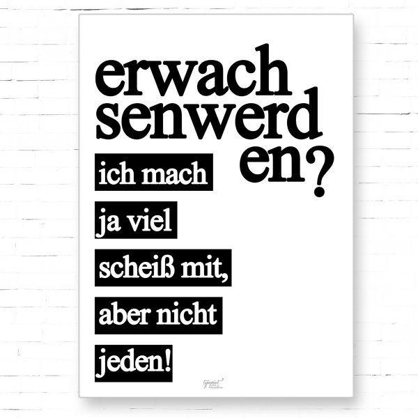Poster TypoPrint Erwachsen werden