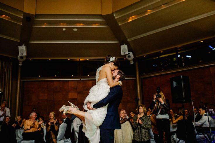 Sarah and Mitch's fun-filled wedding at L'Aqua Gold Room  http://docksidegroup.com.au/blog/real-wedding-sarah-and-mitch