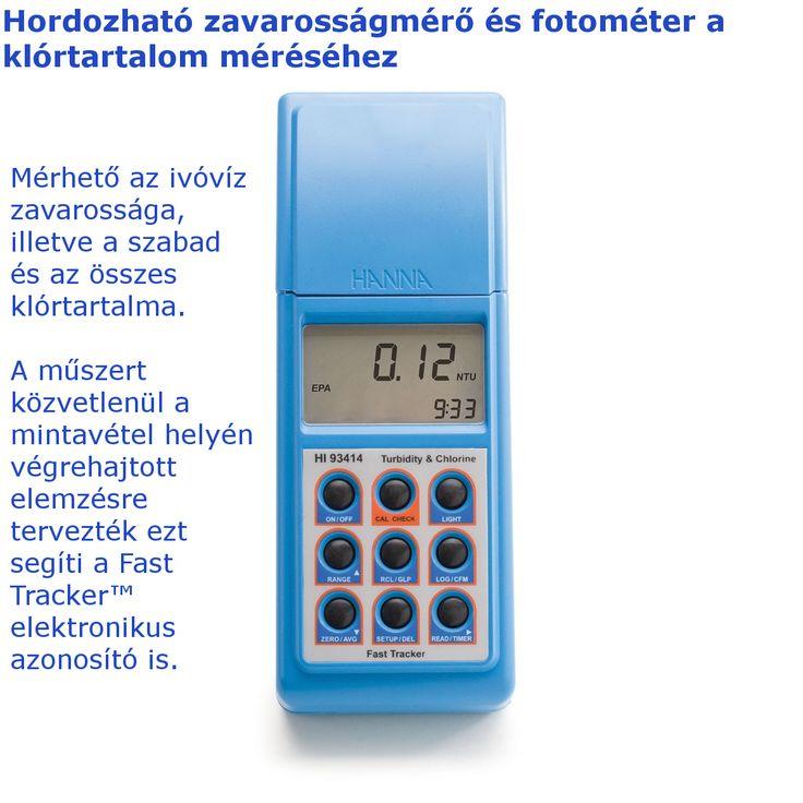 A Hanna HI93414 egy hordozható zavarosságmérő, amellyel még ráadás képen az ivóvíz szabad és összes klórtartalmát is tudjuk mérni.