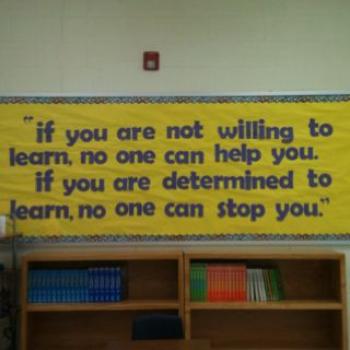 Love this inspirational bulletin board for the classroom!