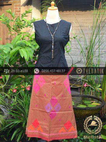 Kain Tenun Indonesia Motif Wajik Peach | Indonesian Ikat Fabric Pattern Design http://thebatik.co.id/kain-batik-bahan/
