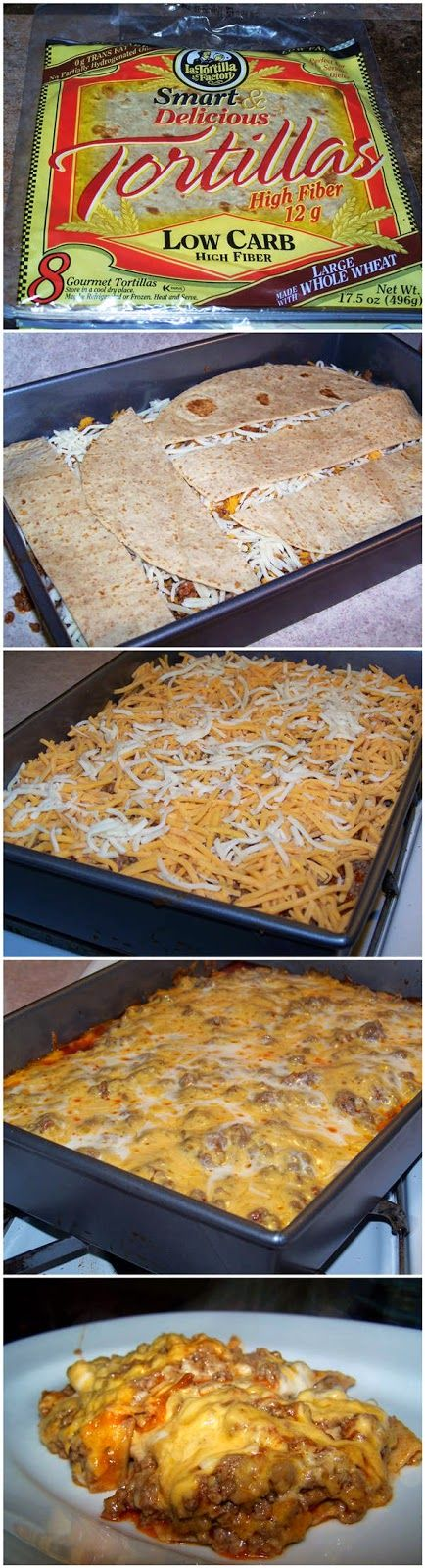 Beef Enchilada Pie - I would just use the gluten free tortillas! ;)