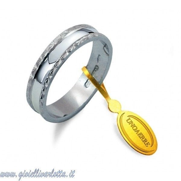 Fedina UNOAERRE in oro bianco 750 ‰ 18 kt AF 235 Misura 16 GioielliVarlotta