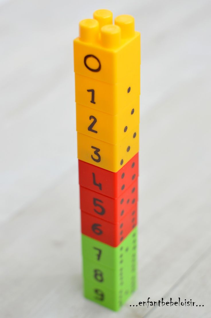 Numériser de 1 à 9 - activités LEGO DUPLO