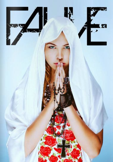 Fauve Magazine (Bali) - Cover September 2013 // 69slam Singlet Top BLOOMS WHITE - FW13 underwear collection