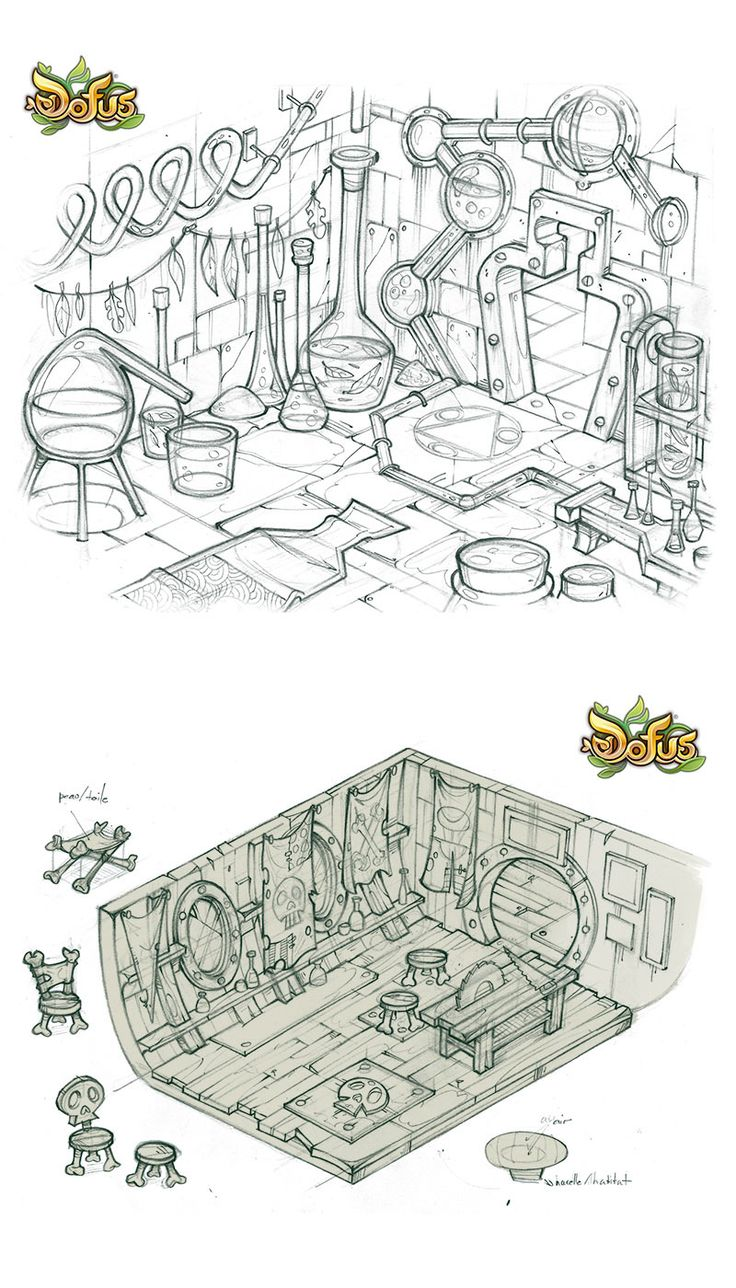 Artes de Charlene Le Scanf para o game Dofus | THECAB - The Concept Art Blog