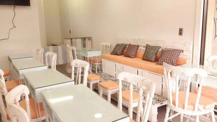 Mesas manicura #spa #palet #pallet #estiba #diseño #reciclable #50plusarch