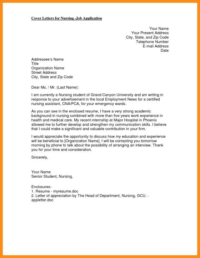 30+ Nursing Cover Letter | Cover Letter Designs | Writing, Critical ...